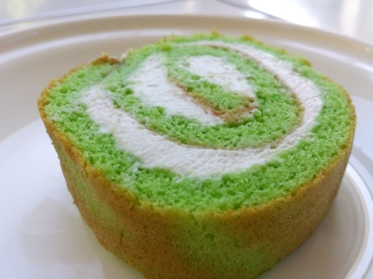Pandan & Coconut Cream Swiss Roll